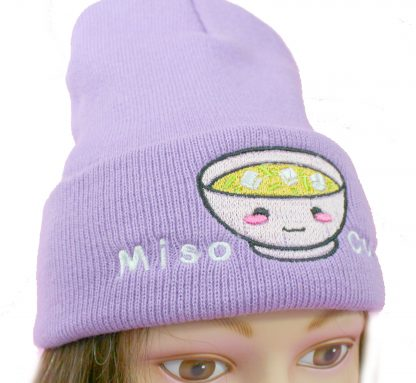 Miso Cute Kawaii Hat in lavender