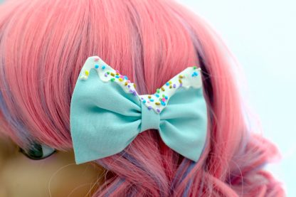 frosted hair bows