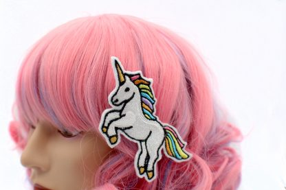 rainbow unicorn hair clip