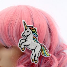 Rainbow Unicorn Hair Clip for Girls