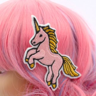cute kawaii unicorn pink hair clip