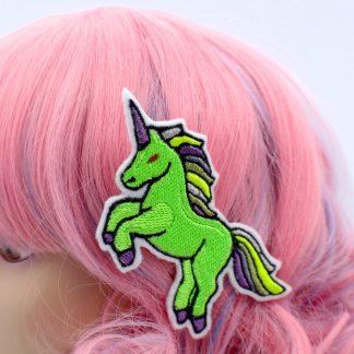 zombie unicorn hair clip
