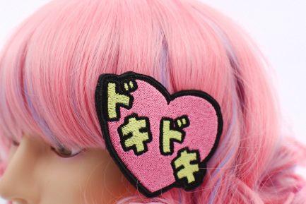 doki doki heart hair clip