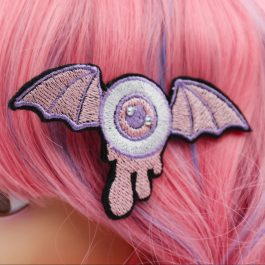 Goth Kawaii Pastel Winged Eyeball Hair Clip