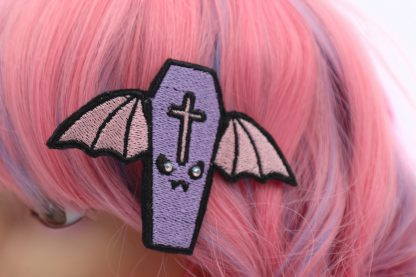 pastel goth winged ciffin hair clip