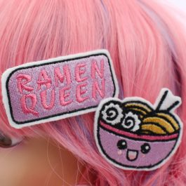 Kawaii Ramen Queen Hair Clip Set