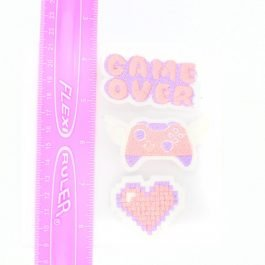 Gamer Girl Pastel Hair Clip Set