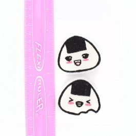 Kawaii Onigiri Hair Clips Set of 2