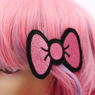 kawaii pink hair bows hair clip set in pink