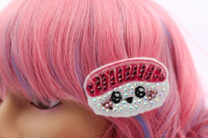 crystal sushi hair clip