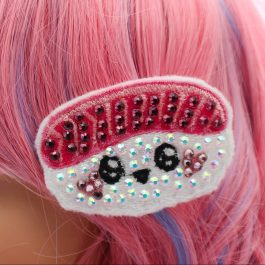 Kawaii Sushi Cute Crystal Hair Clip