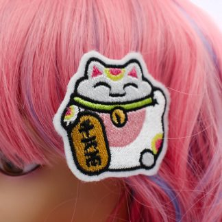 lucky cat hair clips