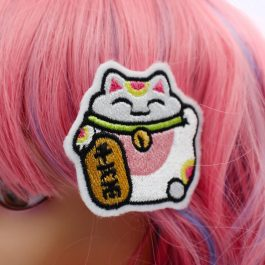 Lucky Cat Hair Clip Set