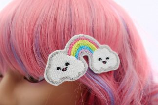 kawaii rainbow hair clips