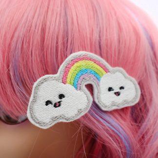 kawaii rainbow hair clips