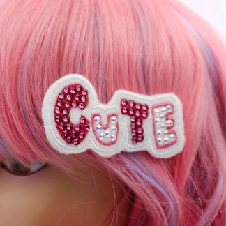kawaii cute crystal hair clip