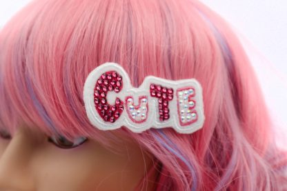 kawaii cute crystal hair clip