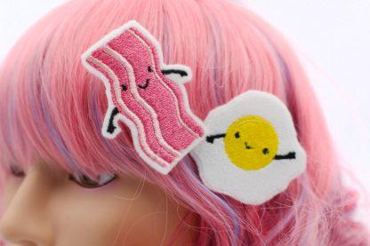 kawaii bacon and egg clip set
