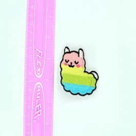 Rainbow Llama Hair Clips Set