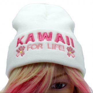 kawaii for life knit beanie hat