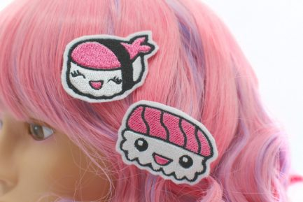 Kawaii Sushi Hair Clips Set of 2
