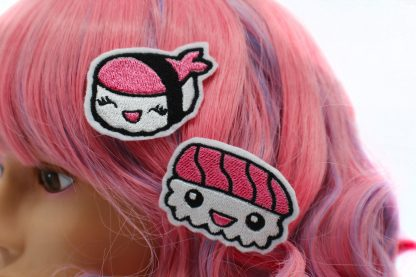 kawaii sushi hair clip set