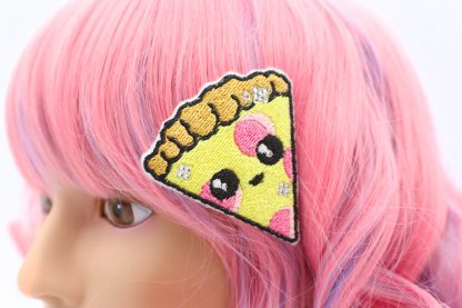 kawaii pizza hair clip
