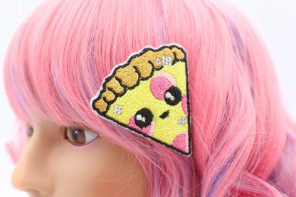 kawaii pizza hair clip