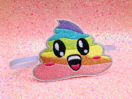 Rainbow Poop Emoji Headband - Unicorn Poop