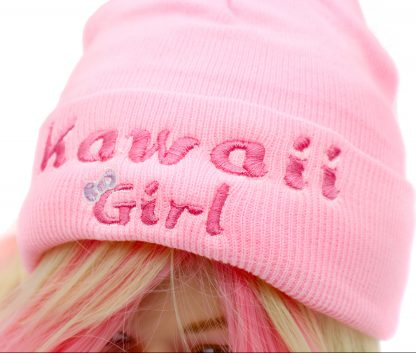 kawaii girl knit hat