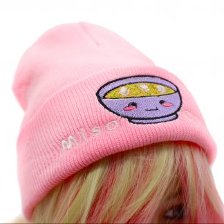 pink knit hat super cute kawaii miso hat