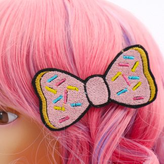 kawaii donut hair bow