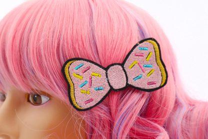 kawaii donut hair bow