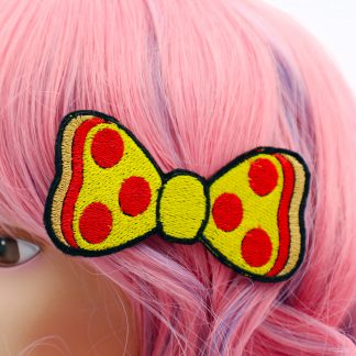 pizza hair bow