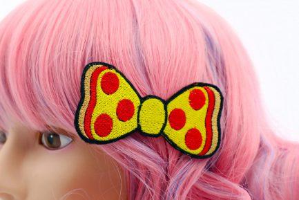 pizza hair bow