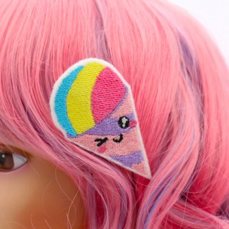 kawaii snow cone hair clip set