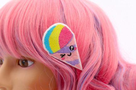 kawaii snow cone hair clip set