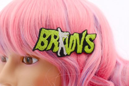 zombie brains hair clip for women