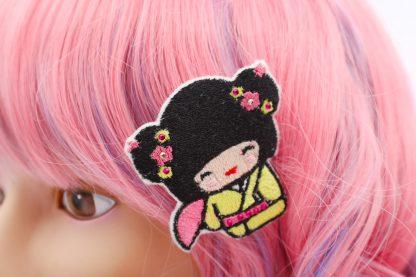 Kokeshi doll geisha hair clips