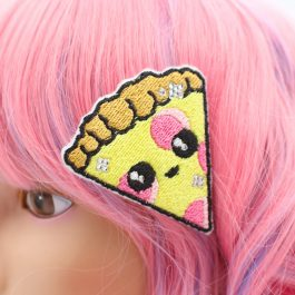 Kawaii Pizza Hair Clip for Girls