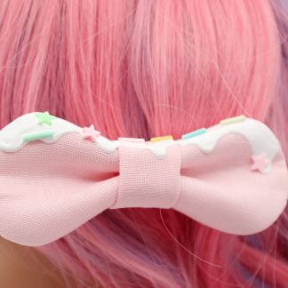 frosted kawaii hair bows