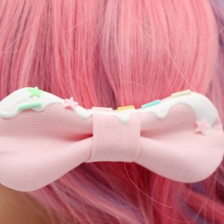 frosted kawaii hair bows
