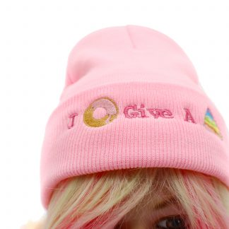 i donut give a poop knit kawaii hat