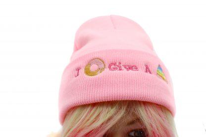 i donut give a poop knit kawaii hat
