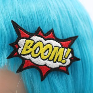 boom comic book hair clip