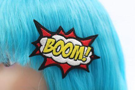 boom comic book hair clip