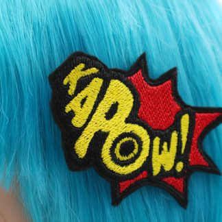 superhero bow Kapow! comic book hair clip