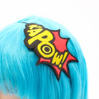 kapow comic book headband