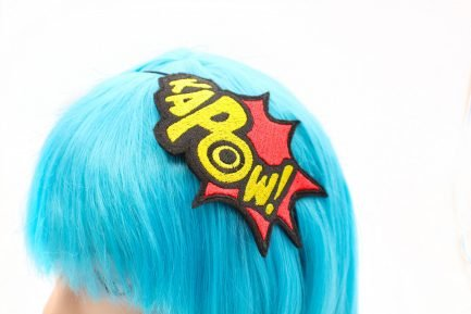 kapow comic book headband