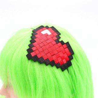 pixel heart headband